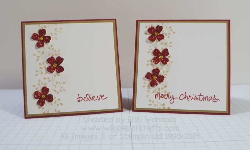 Stampin' Up Bordering Blooms Christmas gift enclosures by www.wippapercrafts.com