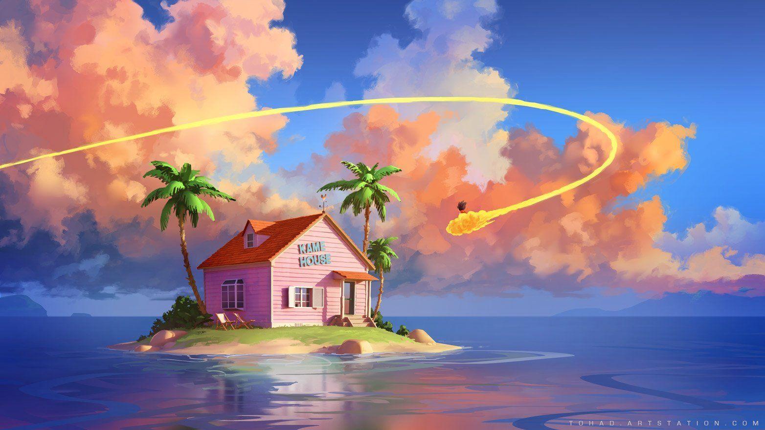 Dragon Ball Kame House By Sylvain Sarrailh Dbz Dragon Ball