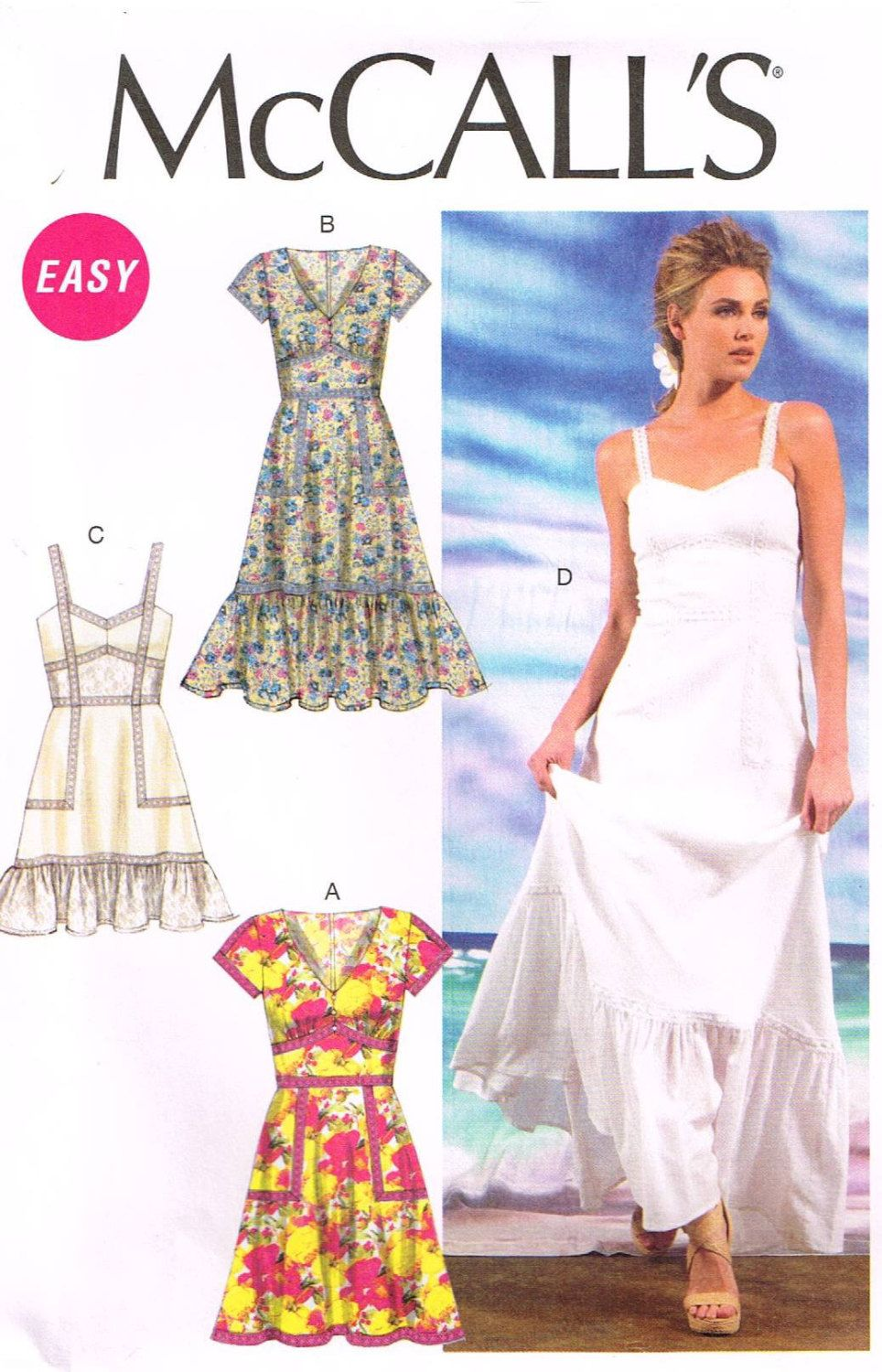 McCall\'s M6749, Sewing Pattern, Misses\' Dresses, Size E5(14,16,18,20 ...