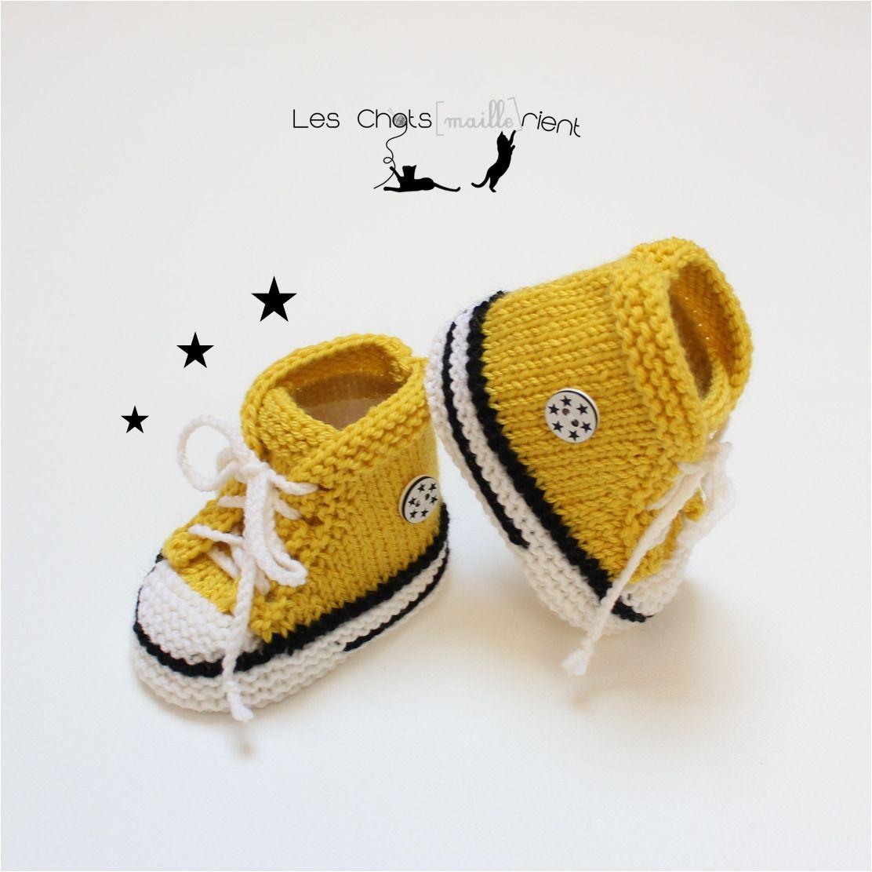 converse jaune bebe