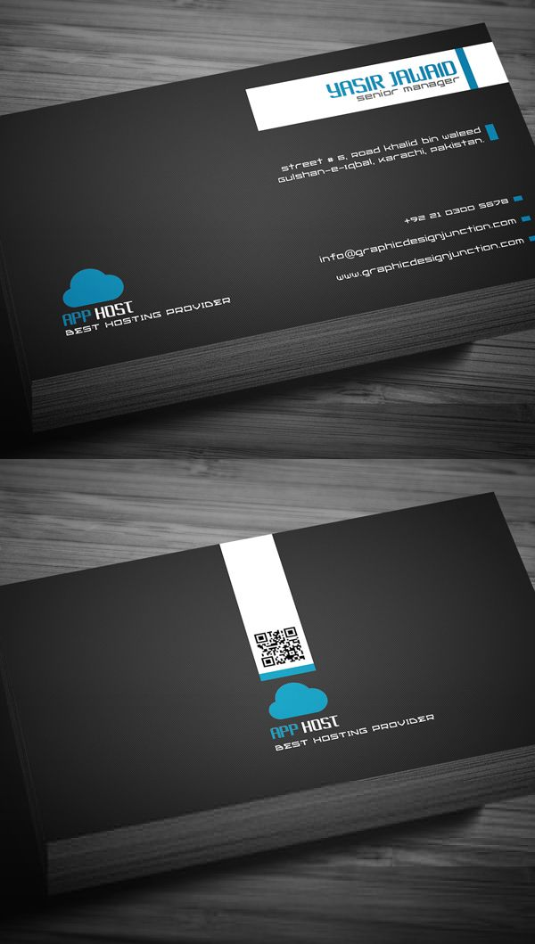 Free Hosting Company Business Card Template | Diseño Gráfico ...