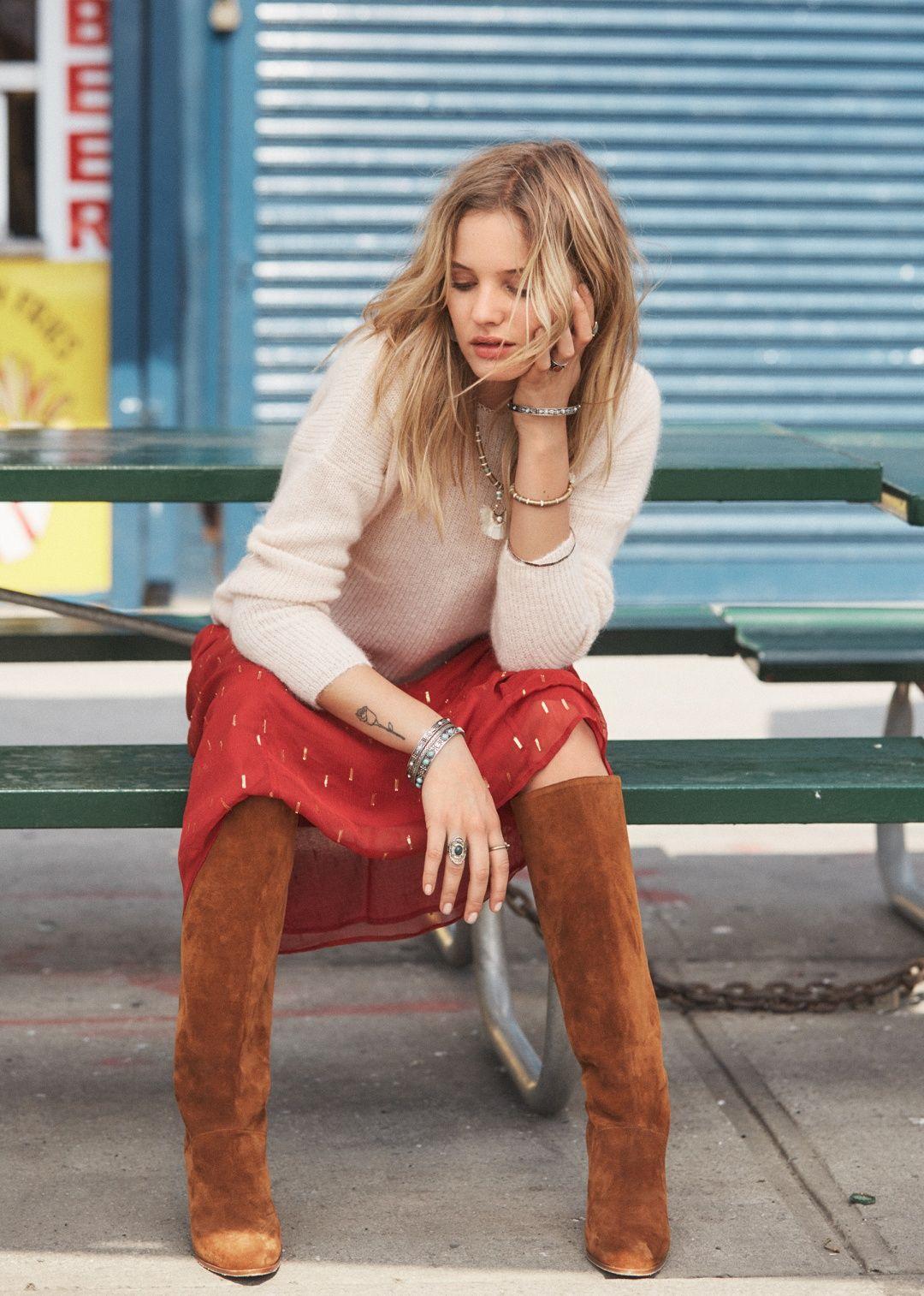 Sézane Abby Boots Fashion, Sezane, Feminine style