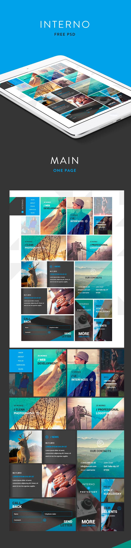 Interno, plantillas PSD para landing page (una pagina) | Tipos de ...