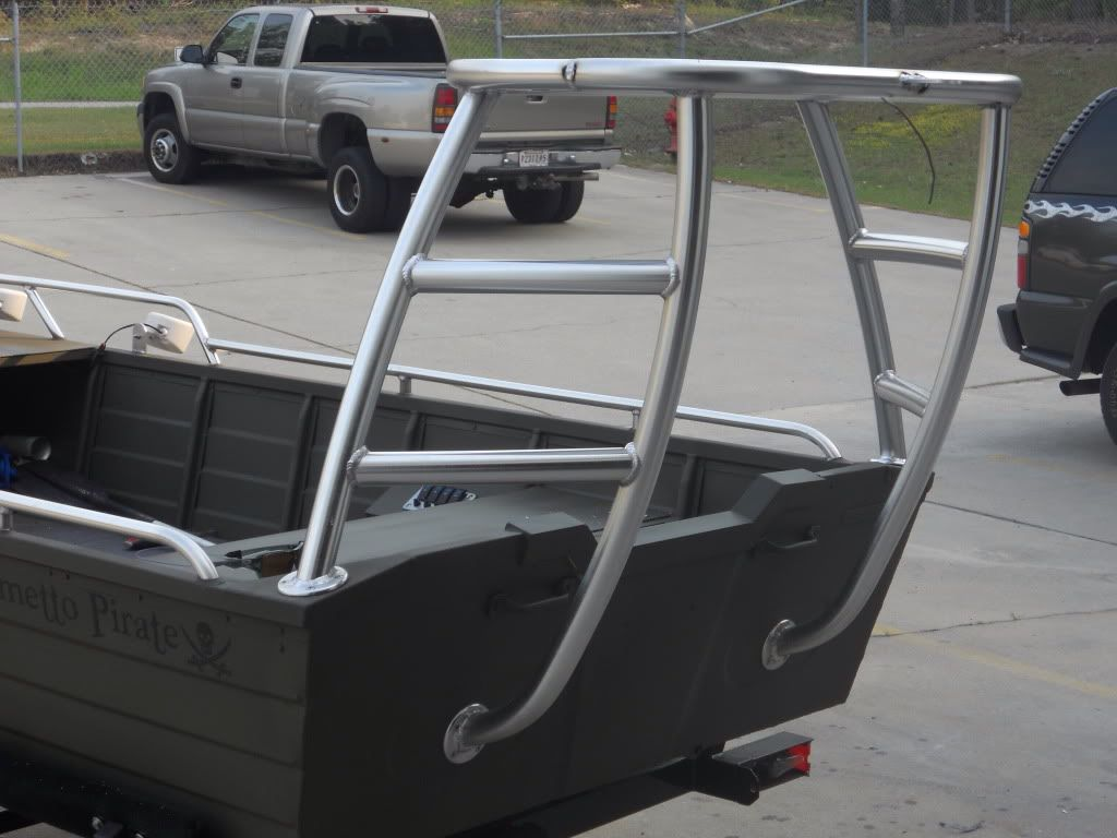 Poling platform on aluminum boat boat ideas pinterest for Fishing platform boat