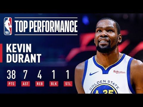 e89f3d9932a9 Kevin Durant ERUPTS For 38 Points in 3 Quarters!