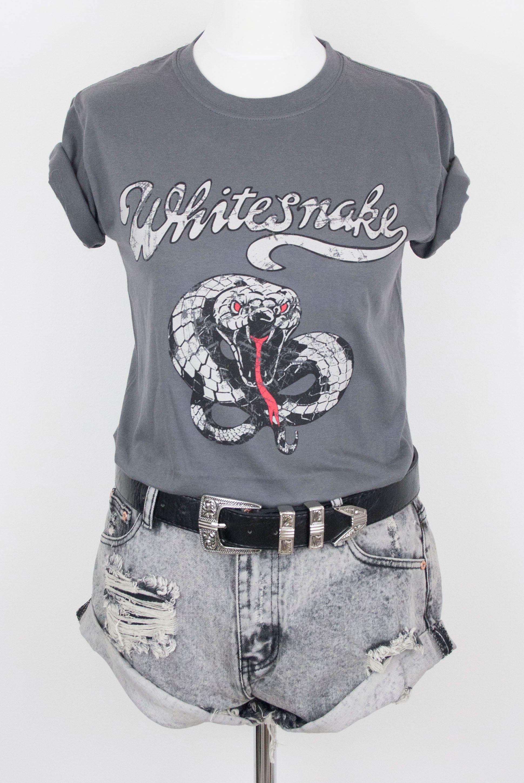 Whitesnake Classic Band Tee Style Classic Rock Shirts Fashion