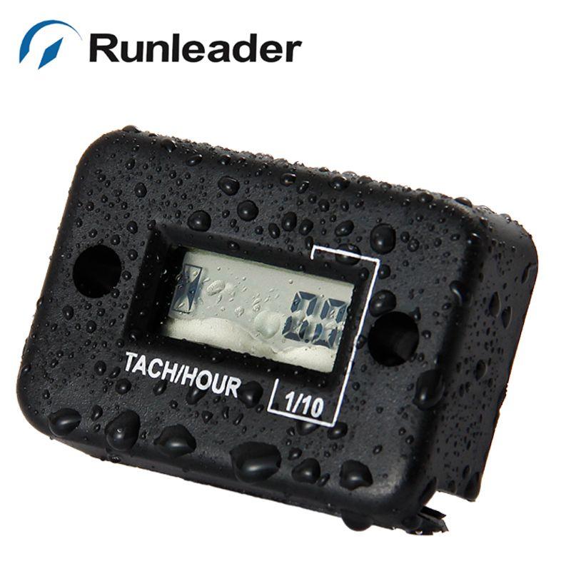 Digital waterproof RPM Tachometer Hour Meter For Gas Engine