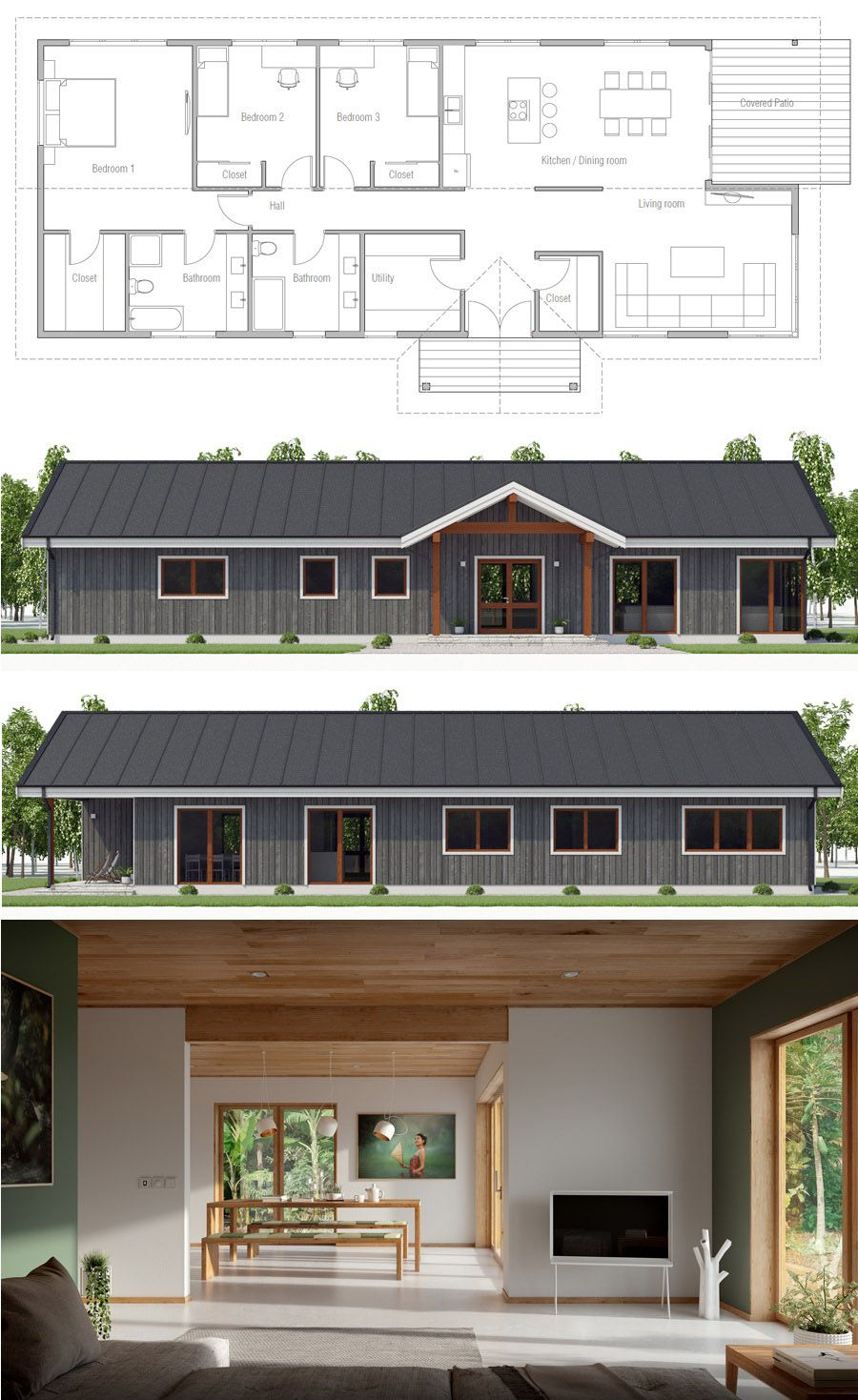 Simple Duplex House Design In Philippines: Floor Plans, Home Plans, House Designs, #floorplans