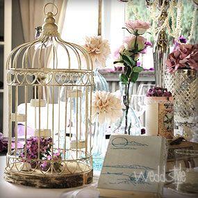 Vintage Vogelk Fig F R Hochzeit Tischdekoration Wedstyle