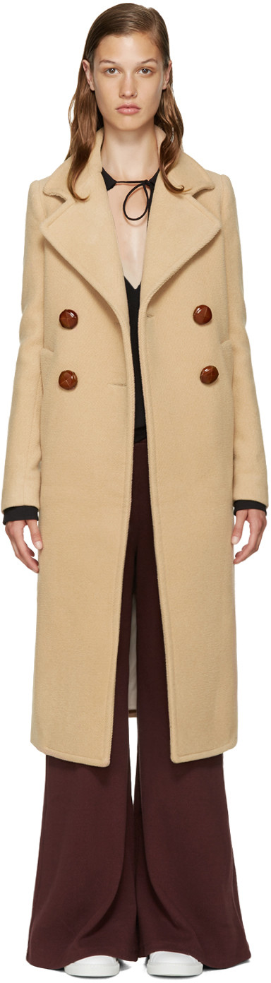 170f35380b2d7 See by Chloé - Beige Wool Long Coat | Trends | Pinterest | Coat ...