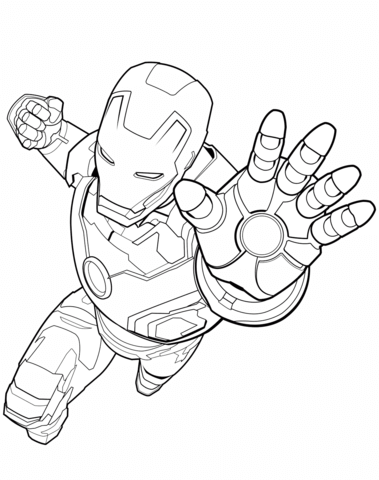Avengers Iron Man Coloring Page From Marvel S The Avengers Category Select From 30710 Printable Crafts Of Cartoons Nature Animals Bible Sketsa Pola Gambar
