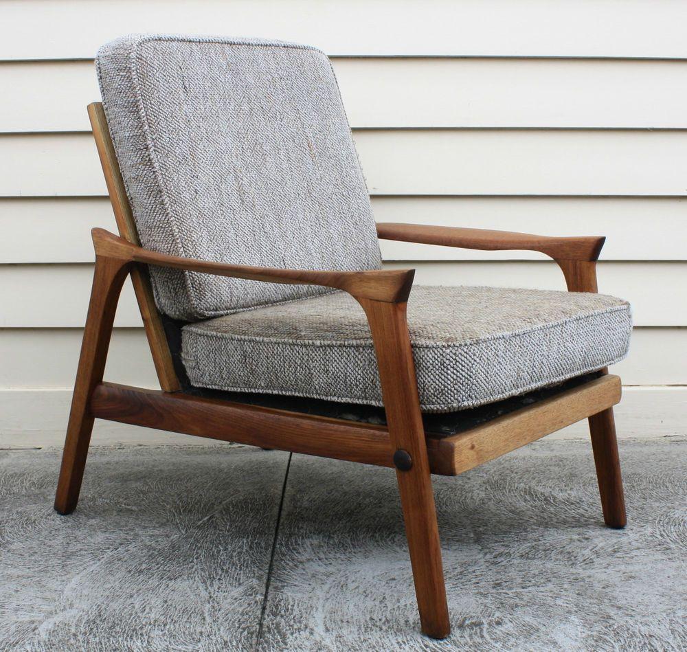 Vintage eames chair - Vintage Retro 60s Eames Era Danish Deluxe Lounge Arm Chair Blackwood