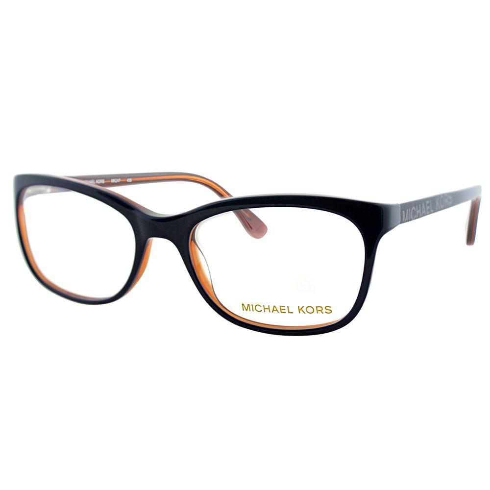 54b1c65504 Michael Kors Womens MK 247 466 Navy Rectangle Eyeglasses-52mm ...