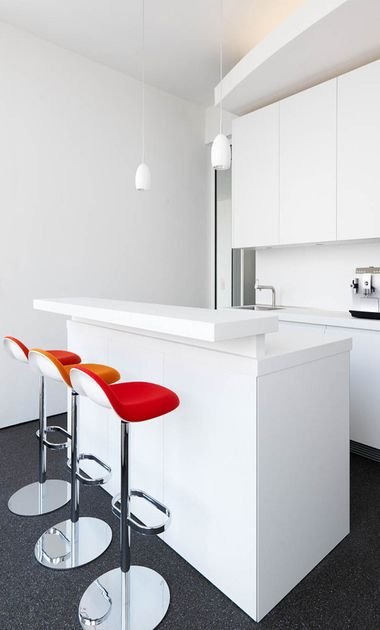Teeküche, Küche, Bar - Proj Gärtner Internationale Möbel Projekte - küche mit bar