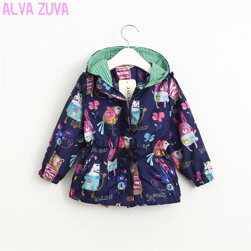 72d75f378 Hot Sale 2017 Spring Autumn Girl Hooded Jacket Brand Print Graffiti ...