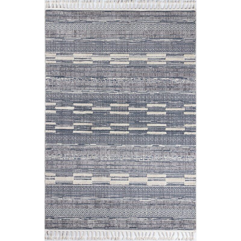 Stockham Striped Blue Gray Ivory Area Rug In 2020 Area Rugs Rugs Blue Stripes