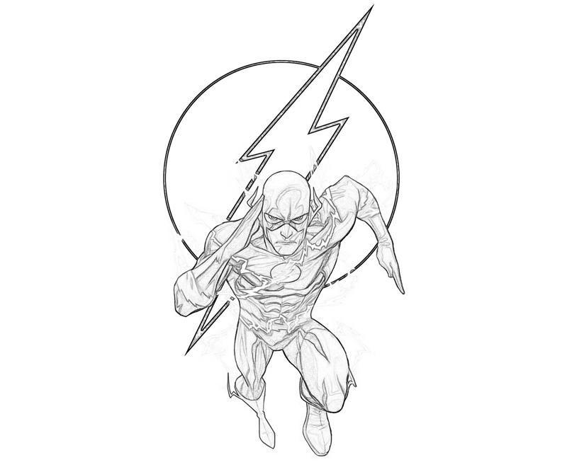 Dibujos De Flash Para Pintar Flash Dibujo Dibujos Imprimibles Superheroes