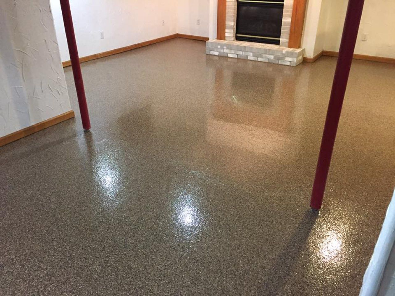 scratch resistant epoxy flake basement floor in findlay ohio rh pinterest com