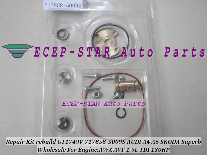 Turbo Repair Kit Rebuild Kits Gt1749v 717858 717858 5009s Turbocharger For Audi A4 A6 Skoda Superb Vw Passat Awx Avf 1 9l Turbo Repairs Vw Passat Skoda Superb