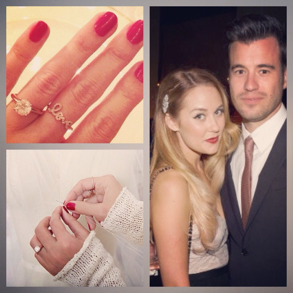 Law student William Tell proposed to the Hills star Lauren Conrad with this timeless beauty! We can get a glimpse of her ring as she hand made her Halloween costume. Experts estimate the cost of the ring to be anywhere from $20,000 - $40,000!