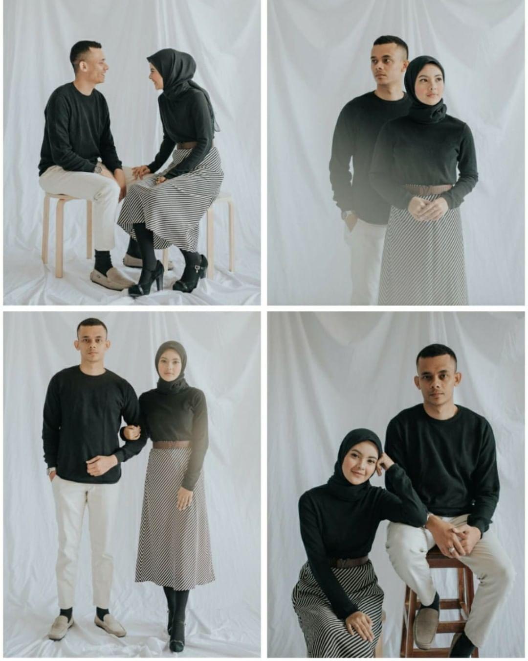 Baju Prewedding Casual Hijab Indoor