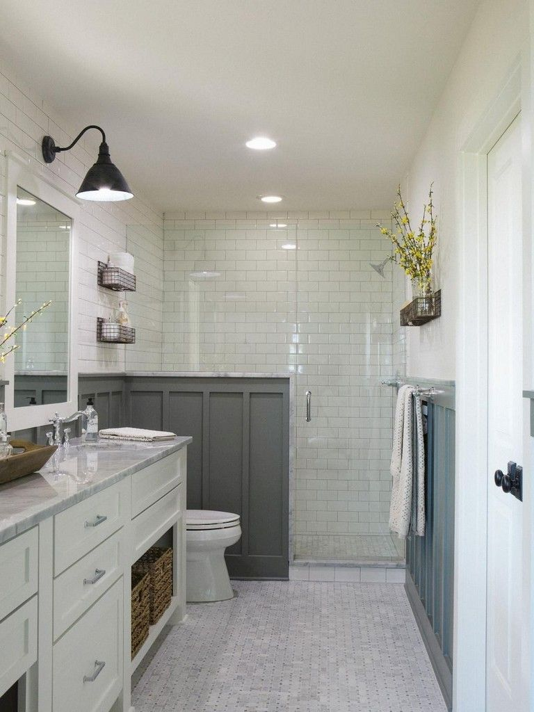 57 Awesome Farmhouse Small Bathroom Remodel Decor Ideas Bathroomideas Bathroomdesign Bathr Small Bathroom Remodel Bathrooms Remodel Bathroom Remodel Shower