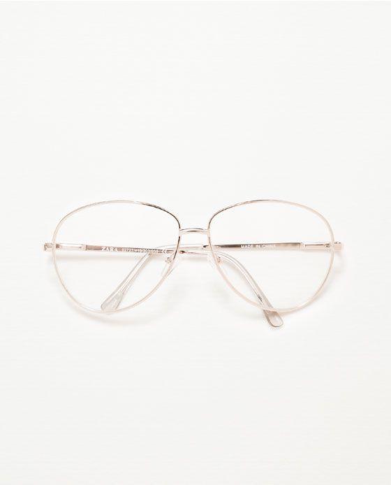 0f30db177 ZARA - MAN - GOLDEN GLASSES | lentes | Óculos estilosos, Armações de ...