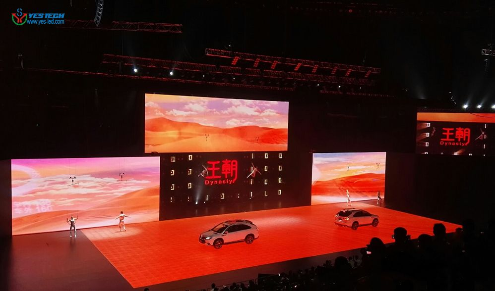 MG7 P4.8 dance floor in BYD Tang 100 Hybrid Super SUV release conference which endorsed by Leonardo DiCaprio http://www.yes-led.com/en/displaycases.html?proID=2244883&proTypeID=163666  E-mail:  yestech@yes-led.com  More Security and Stability MG7 P4.8 led screen strengthened structural design for both borders, It is more security and stability when used as dance floor. And MG7 P4.8 passed the bearing test, safety bearing capacity can reach 800kg/0.03㎡