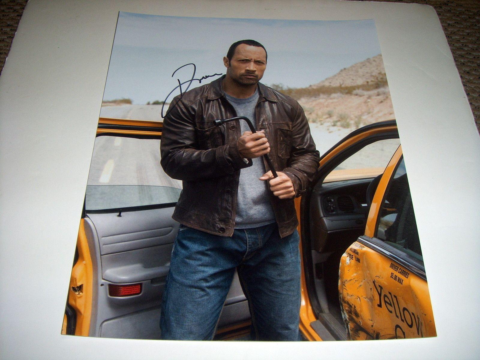 Dwayne johnson signed 11x14 photo the rock wwe ebay