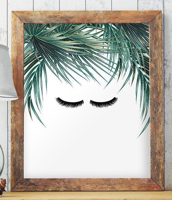 Eyelashes Makeup Art Minimalist Home Decor Minimalist Wall image 2