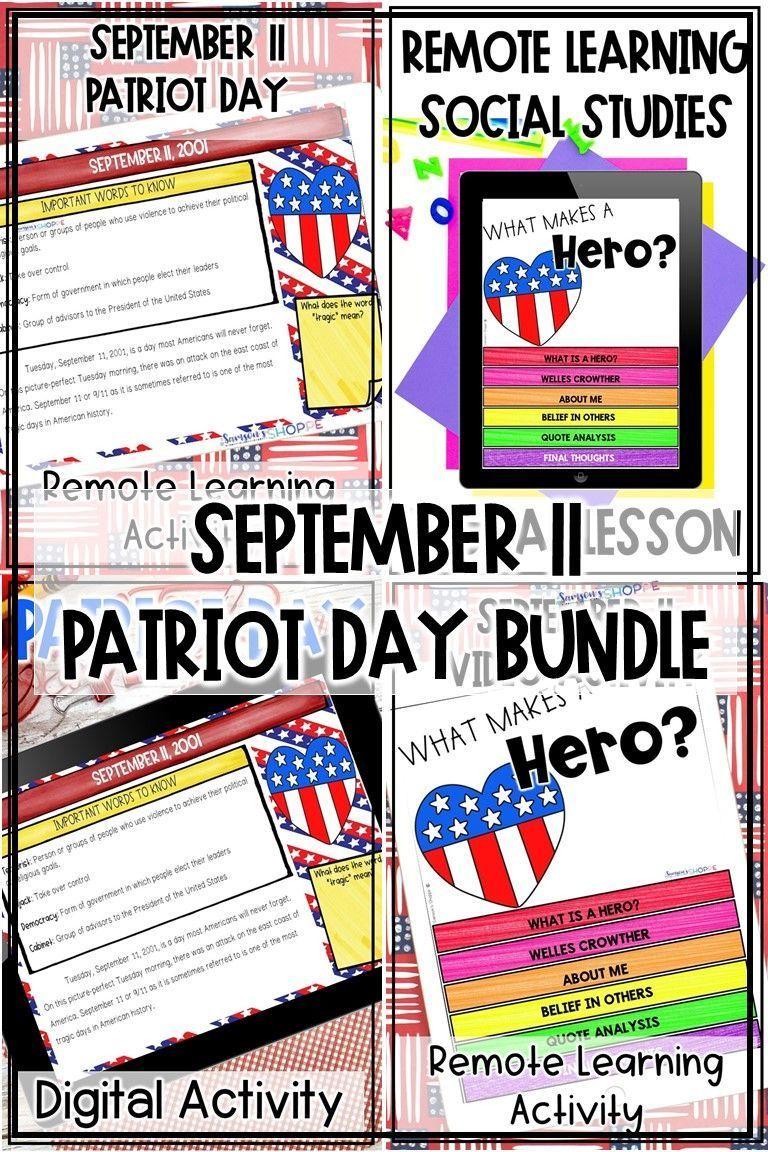 Patriot Day Digital Activities In 2020 Digital Activities Digital Learning Activities Social Studies Middle School