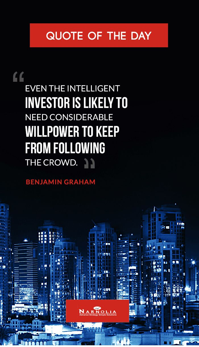 Quote Of The Even The Intelligent Investor Is Likely To Need