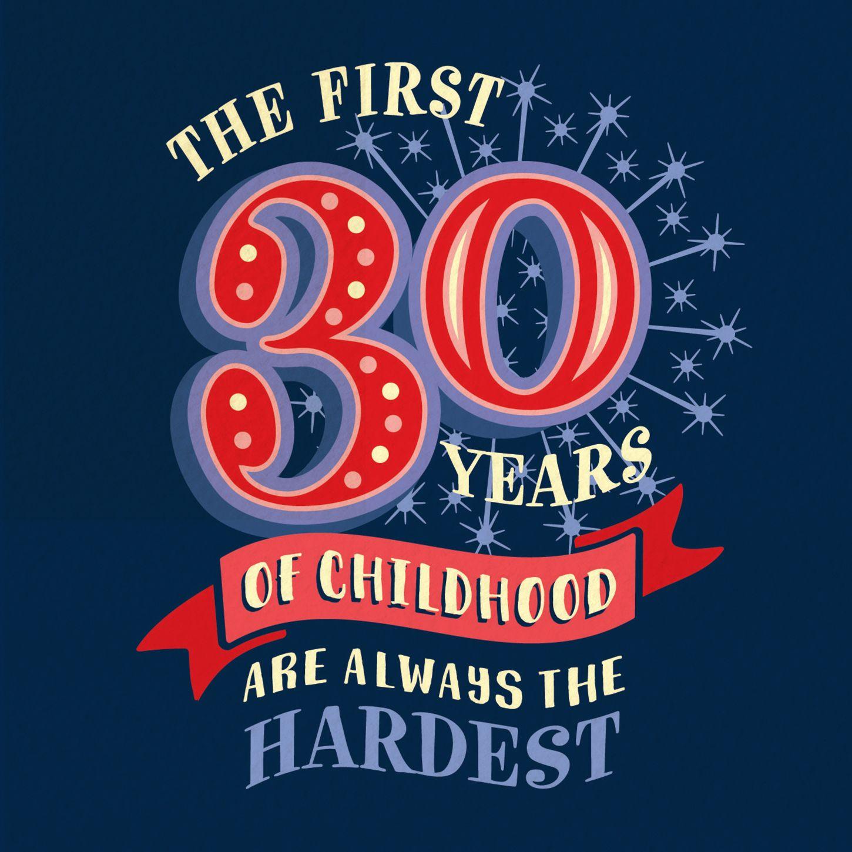 Funny 30th 'Childhood' Milestone Birthday Card in 2020