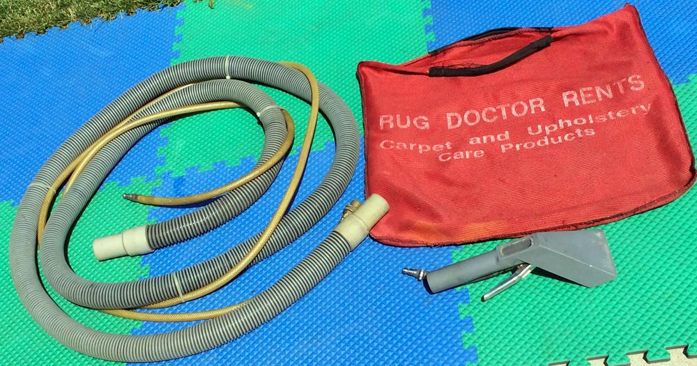 RUG DOCTOR R-40-C EXTRACTOR V-10 FLOOR TOOL HOSE SET+UPHOLSTERY STAIR ATTACHMENT #RugDoctor