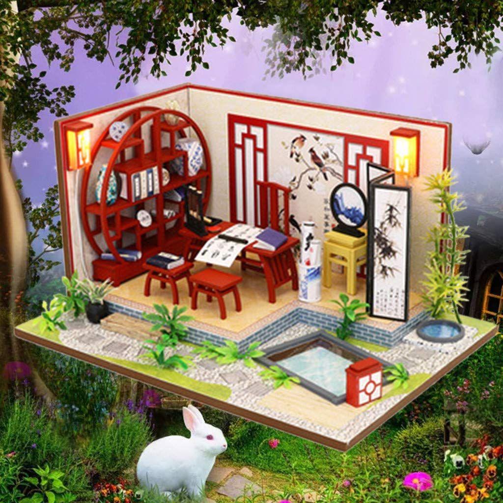 DIY Mini Cottage HandAssembled Creative Model China Style Puzzle houses help develop childrens intelligence train children of all abilitiesdiy house decor dollhouse furni...