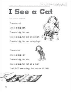 I See a Cat: Poem Fluency-Building Read-Aloud Poem