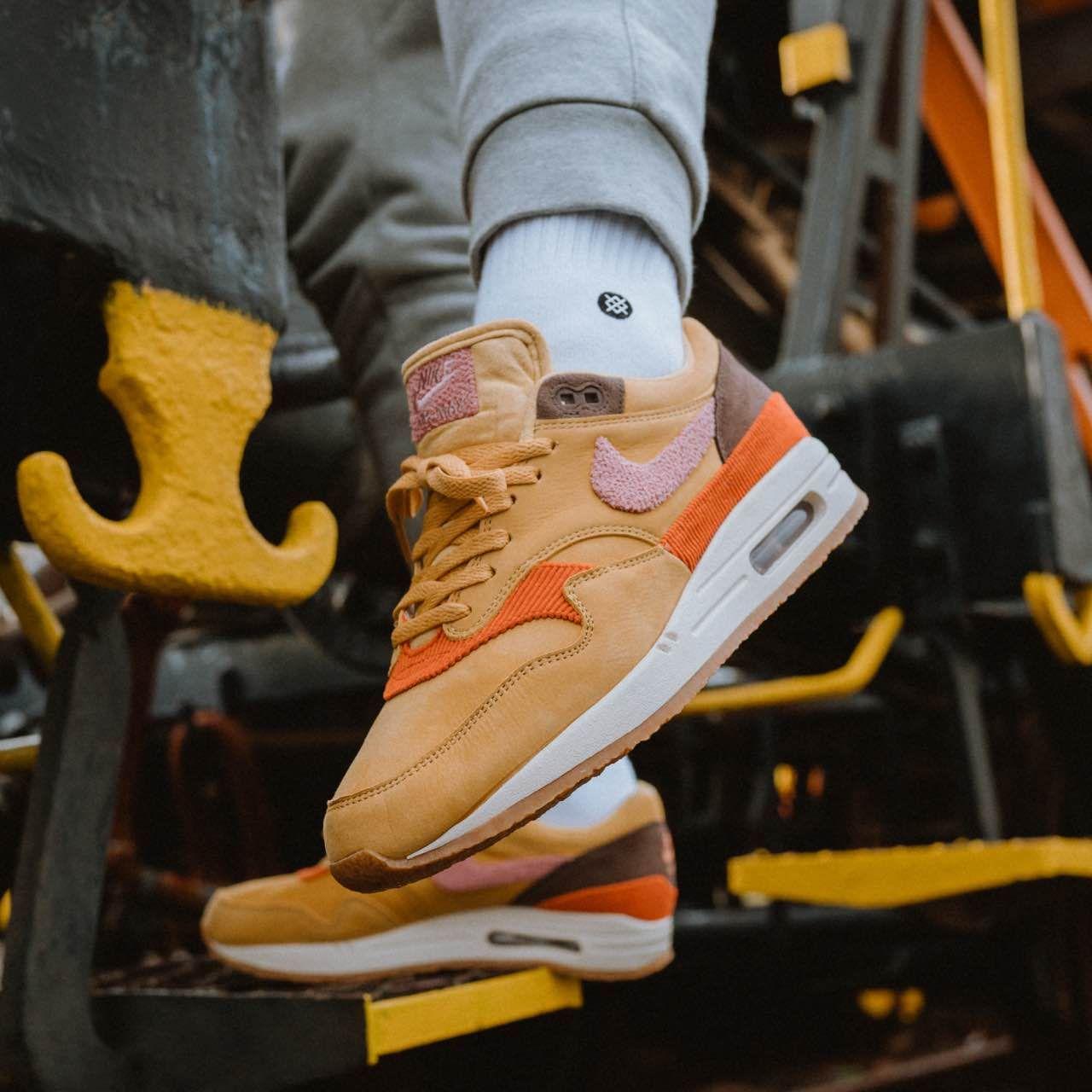 online retailer c31ff 69bf5 Nike Air Max 1 Gold   Pink   Brown isds.co sc CD7861-700 Credit   Solebox —   nike  airmax  sneakerhead  sneakersaddict  sneakers  kicks  footwear   shoes ...