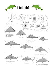 origami dolphin instructions #origamianleitungen