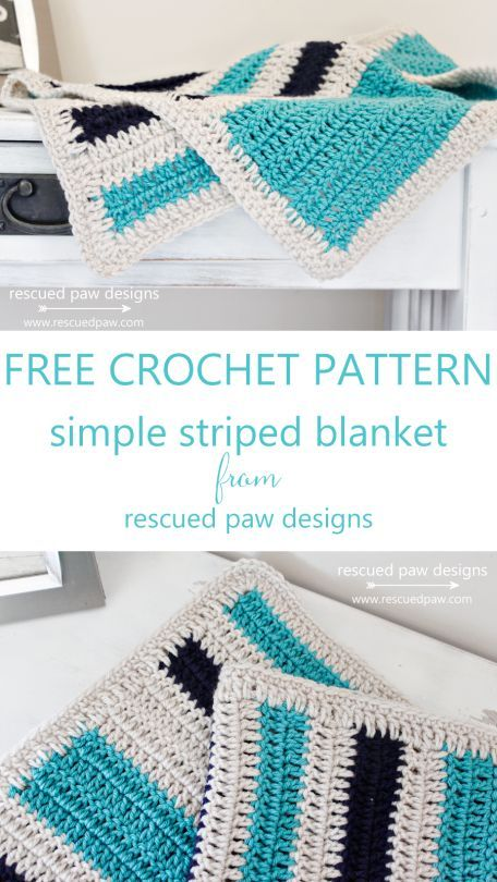 Simple Striped Crochet Blanket Pattern to Make! | Proyectos que ...