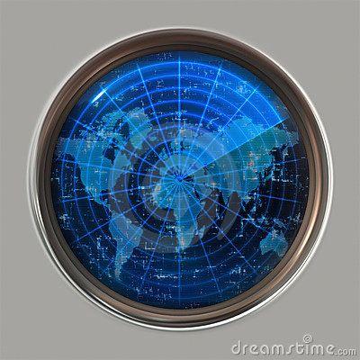 Vector Illustration World map radar or sonar World Map - copy world map vector graphic