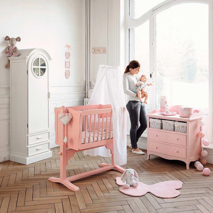 berceau rose collection junior 2015 maisons du monde berceaux pinterest maison du. Black Bedroom Furniture Sets. Home Design Ideas