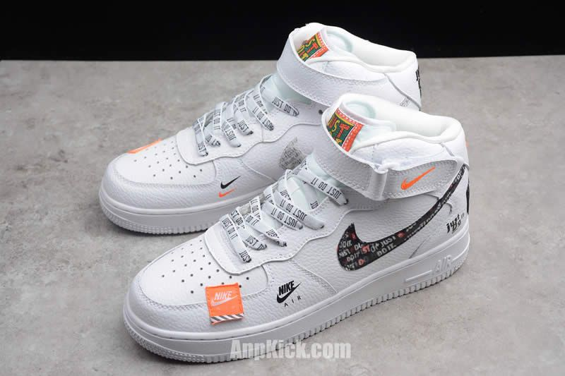 Custom Air Force 1 High Just Do It Af1 White Black Cheap Price For Sale Detail Images 1 Anpkick Com Sneakers Men Fashion Womens Sneakers Sneakers Fashion
