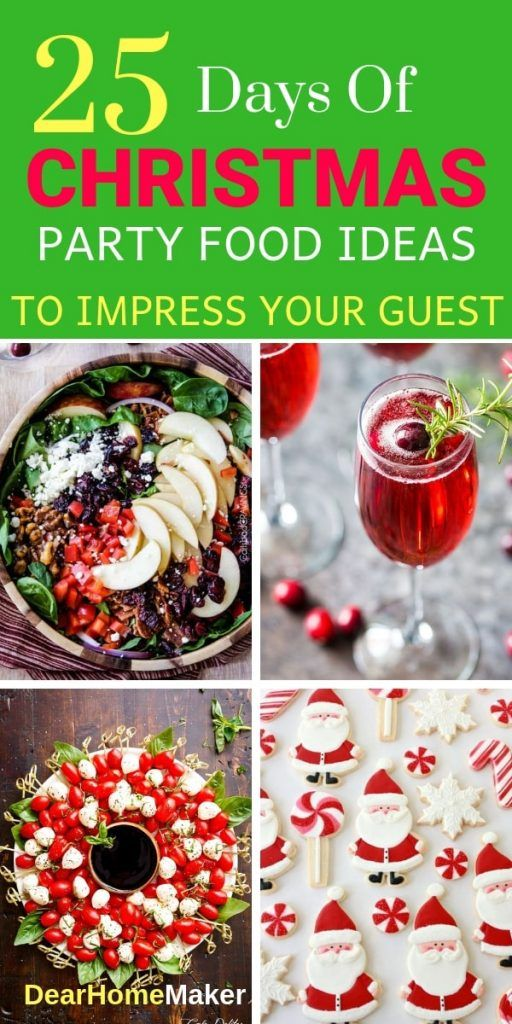 25 Days of Christmas Party Food images