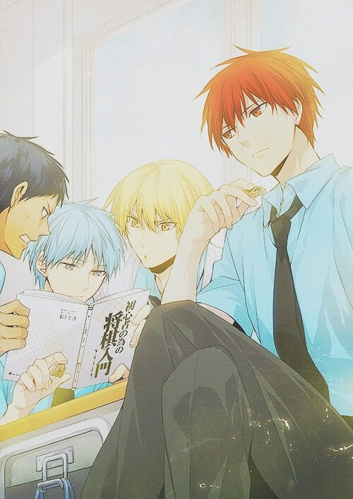 What are those guys reading o.0 Aomine | Kise | Kuroko | Akashi