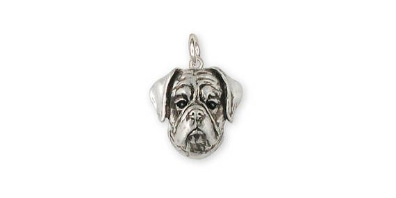 Boxer Charm Jewelry Sterling Silver Handmade Dog Charm BX9-C