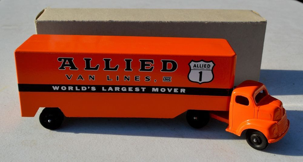 Ralstoy Allied Van Lines Advertising Steel Toy Truck-NOS-New-Shoe City Champions #Ralstoy