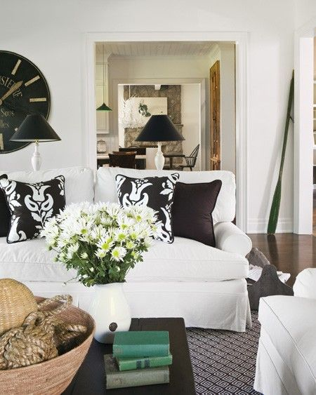 Photo Gallery Traditional Cottages  White Couches Brown Pillows Magnificent White On White Living Room Decorating Ideas Design Inspiration