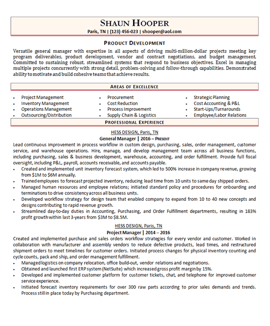 Product Development Manager Product Development Manager Resume Resume Examples