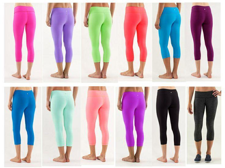 Lululemon leggings!! I want the dark purple/burgundy one ...
