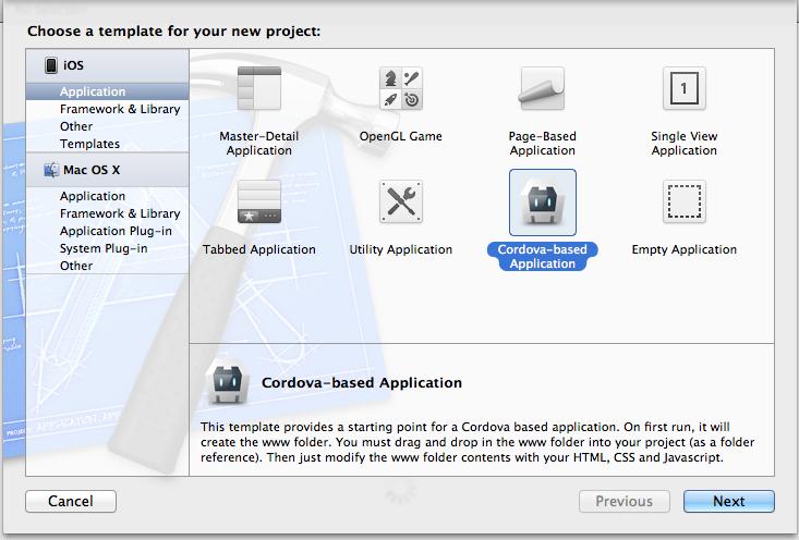 Apache Cordova API Documentation Ios application